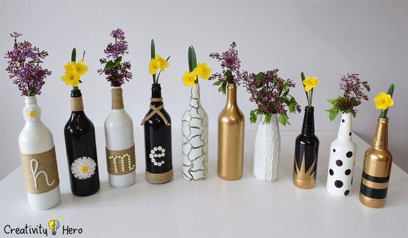 DIY Glass Bottle Home Decor – 3 Simple Ideas 12