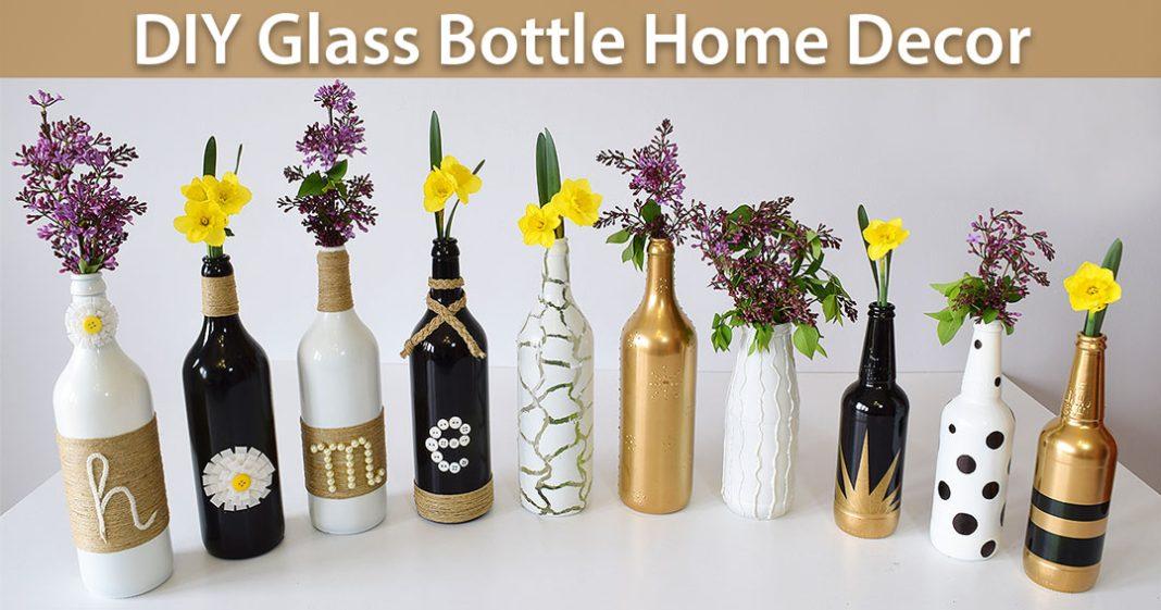 Diy Glass Bottle Home Decor 3 Simple Ideas 0