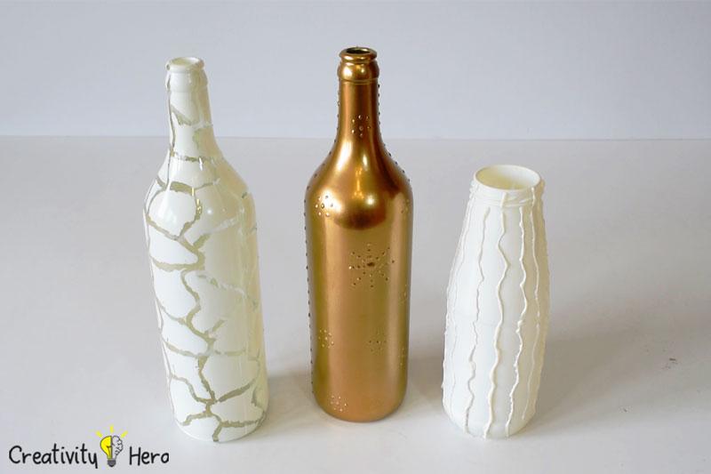 Diy Glass Bottle Home Decor 3 Simple Ideas 11