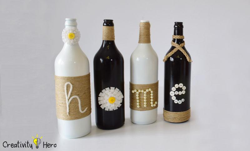 DIY Glass Bottle Home Decor – 3 Simple Ideas 13