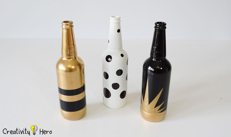 DIY Glass Bottle Home Decor – 3 Simple Ideas 8