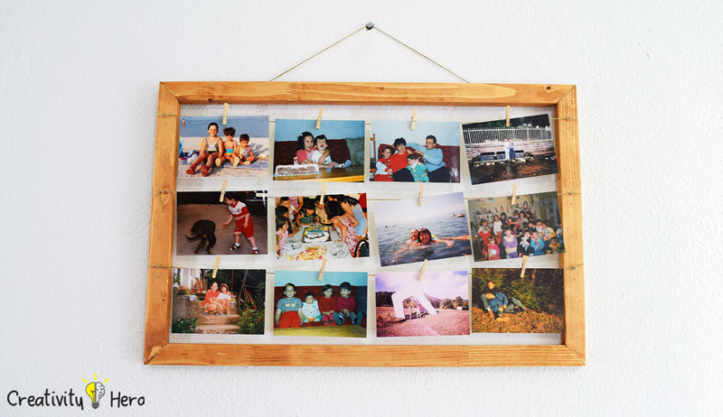 How To Make A Hanging Clothespin Photo Frame DIY Project 10