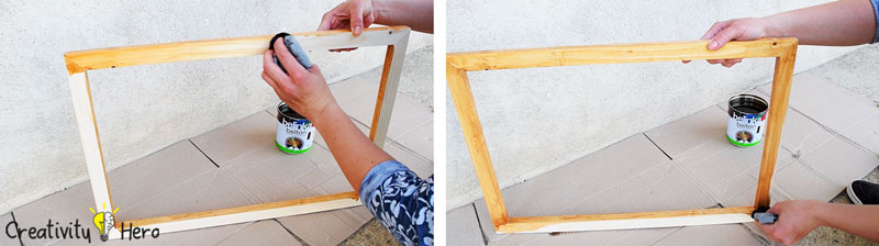How To Make A Hanging Clothespin Photo Frame DIY Project 5