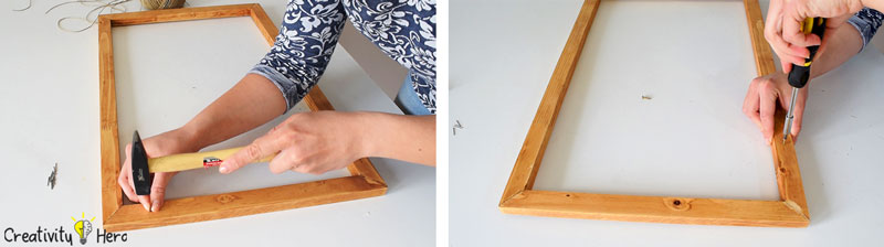 How To Make A Hanging Clothespin Photo Frame DIY Project 7