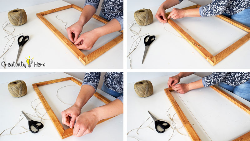 How To Make A Hanging Clothespin Photo Frame DIY Project 8