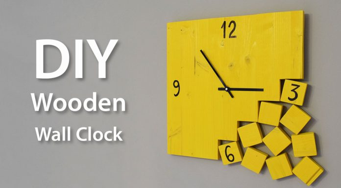 How To Make A Modern Wooden Clock DIY Project Featured