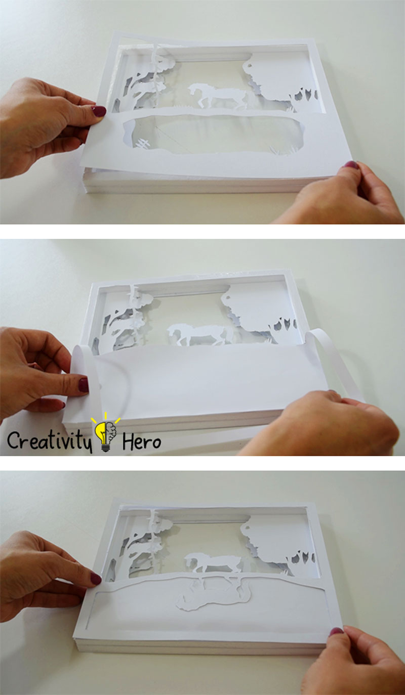 How To Create A 3D Paper Cut Light Box DIY Project 10