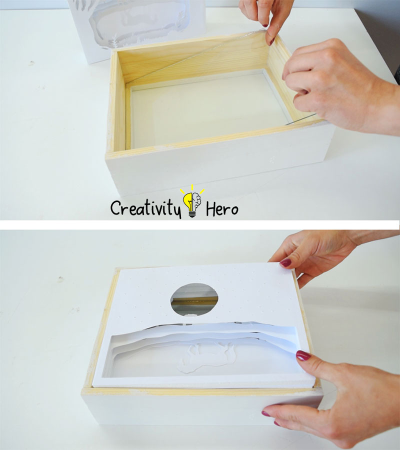How To Create A 3D Paper Cut Light Box DIY Project 16