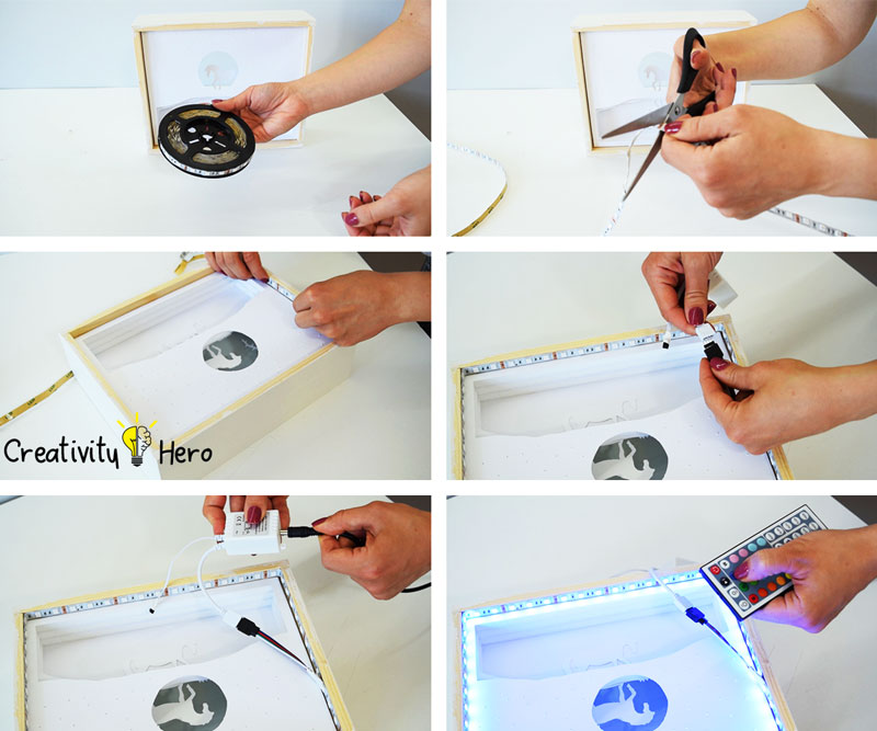 How To Create A 3D Paper Cut Light Box DIY Project 17