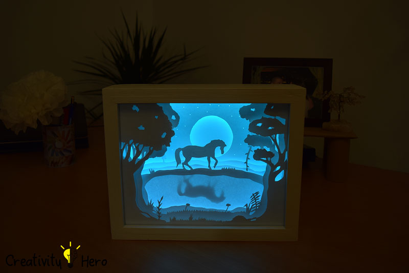 How To Create A 3D Paper Cut Light Box DIY Project 19