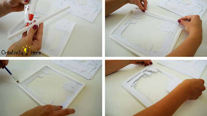 How To Create A 3D Paper Cut Light Box DIY Project 9