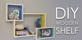 DIY Colorful Rectangular Wooden Wall Shelf 0000000