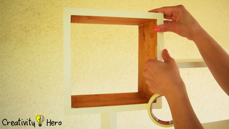DIY Colorful Rectangular Wooden Wall Shelf 10