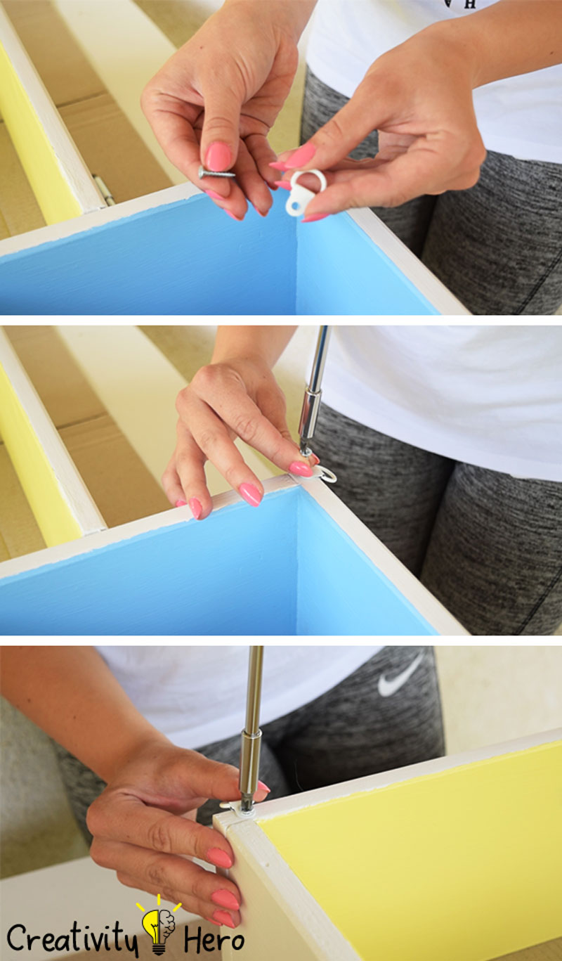 DIY Colorful Rectangular Wooden Wall Shelf 12