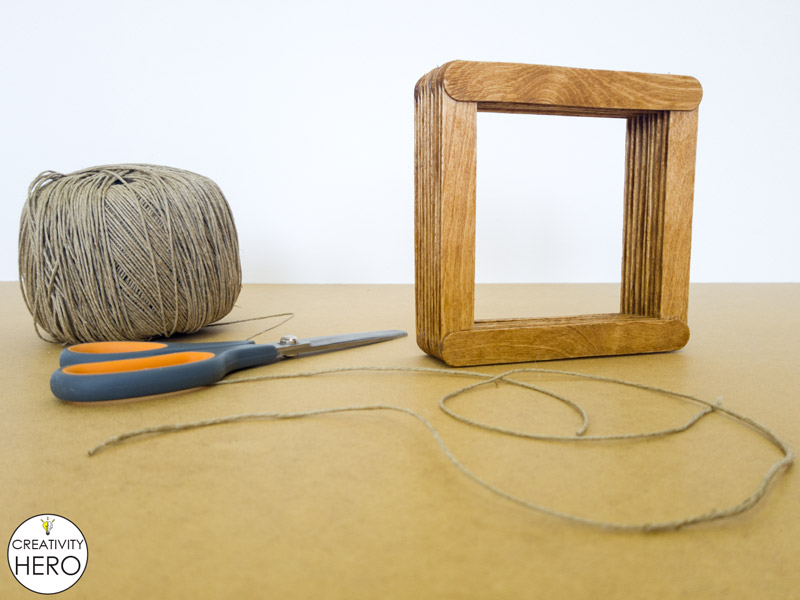 Simple DIY Picture Frame Using Popsicle Sticks 6