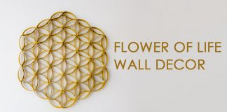 Wall Art How to Make Flower of Life Out of Toilet Paper Rolls 0