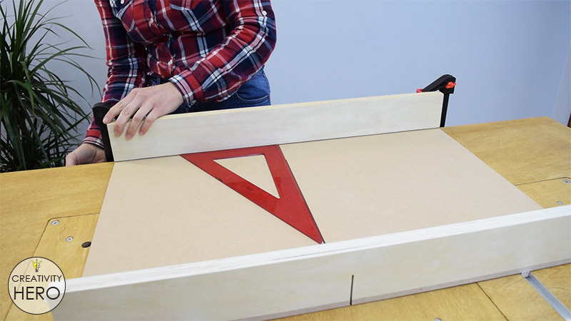 How to Make a Crosscut Sled with Flip Stop Block (Free Plans) 16