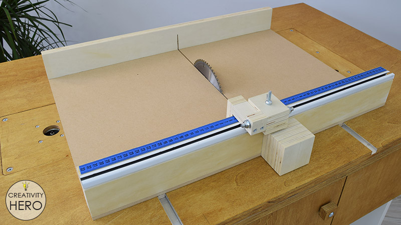 How to Make a Crosscut Sled with Flip Stop Block (Free Plans) 39