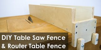 How to Make a Table Saw Fence and Router Table Fence for Homemade Workbench Featured