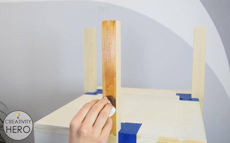 DIY Mid-Century Modern Side Table End Table 16