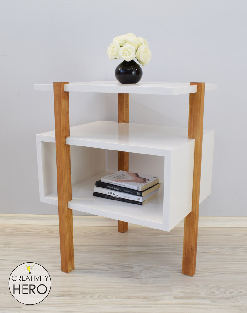 DIY Mid-Century Modern Side Table End Table 22
