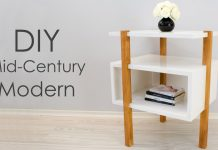 DIY Mid-Century Modern Side Table End Table Featured