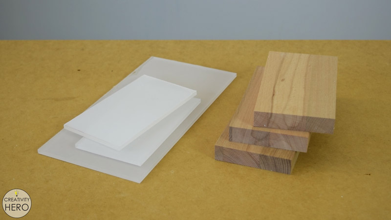 DIY Acrylic and Wood Color-Changing LED Lamp 1- Cutting the wood and the acrylic to size