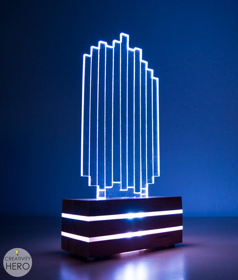 DIY Acrylic and Wood Color-Changing LED Lamp 24 - Enjoying the light