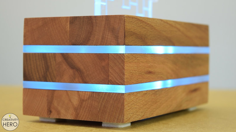 DIY Acrylic and Wood Color-Changing LED Lamp 25 - Front of the lamp