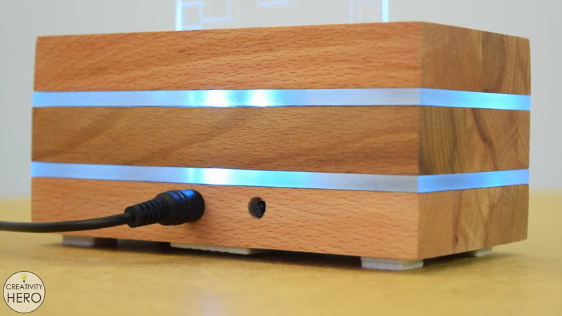 DIY Acrylic and Wood Color-Changing LED Lamp 26 - back of the lamp