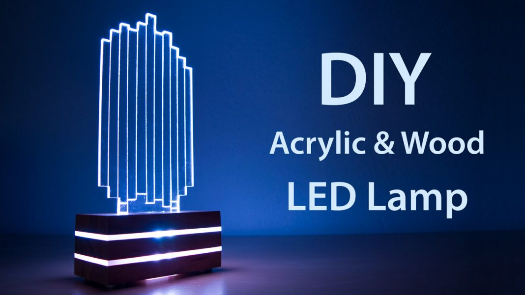 Diy Acrylic And Wood Color Changing Led Lamp Creativity Hero