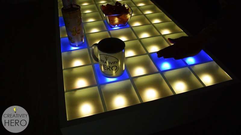 Diy interactive led coffee table creativity hero i hope you enjoyed this amazing diy project if you like this led coffee table give me a thumbs up leave a comment below and subscribe to my youtube solutioingenieria Images